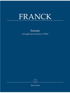 C. Franck: Sonata In A Arranged For Flute And Piano Books | Flute, Piano Accompaniment