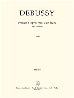 C. Debussy: Prelude A L'Apres-Midi D'Un Faune - Prelude To The Afternoon Of A Faun (Violin II) Books | Orchestra