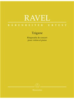 Maurice Ravel: Tzigane (Rhapsody For Violin) - Piano Reduction (Urtext) Books | Violin, Piano Accompaniment