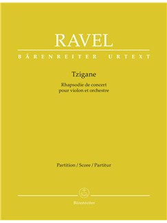 Maurice Ravel: Tzigane (Rhapsody For Violin) - Score (Urtext) Books | Orchestra, Violin