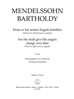 Felix Mendelssohn: For He Shall Give His Angels Charge Over Thee (Vocal Score) Books | Choral