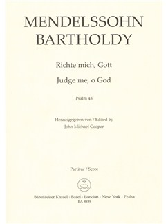 Felix Mendelssohn: Judge Me O God Op.78 Psalm No. 43 (Vocal Score) Books   Choral