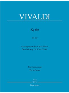 Antonio Vivaldi: Kyrie RV 587 - SSAA (Vocal Score) Books | Choral, Piano Accompaniment, SSAA