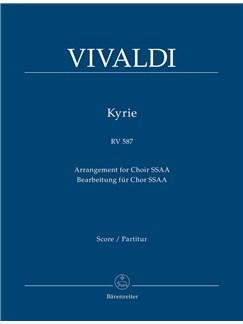 Antonio Vivaldi: Kyrie RV 587 - SSAA (Score) Books | SSAA, Orchestra