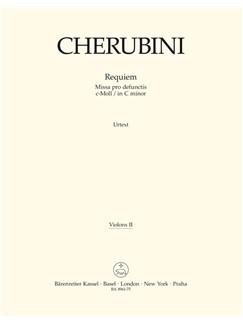 L. Cherubini: Requiem In C Minor - Missa Pro Defunctis (Violin II) Books | Violin