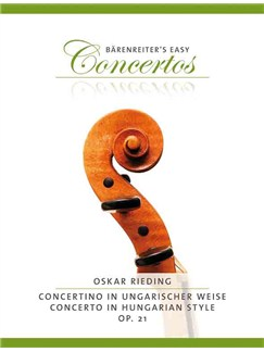 Oskar Rieding: Concertino In Hungarian Style Op.21 - Violin/Piano (Bärenreiter's Easy Concertos) Books | Violin, Piano Accompaniment