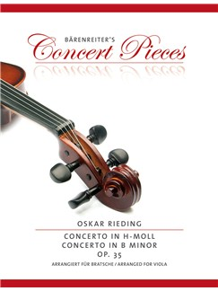 Oskar Rieding: Concerto In B minor Op.35 - Viola/Piano (Bärenreiter's Concert Pieces) Books | Viola, Piano Accompaniment