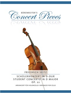 Concerto in D major, Op.22 (Student Concerto), arranged for Cello, transposed to G major Books | Cello, Piano Accompaniment