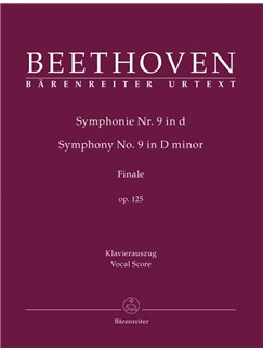 Ludwig Van Beethoven: Symphony No.9 In D Minor Op.125 - Final Chorus Ode To Joy (Vocal Score) Books | SATB, Organ Accompaniment