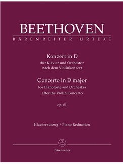 L. Van Beethoven: Piano Concerto In D Based On The Violin Concerto Op.61 (Piano Reduction) Books | Two Pianos