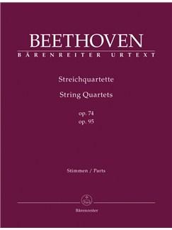 Ludwig Van Beethoven: String Quartets Op.74 & Op.95 (Parts) Books | String Quartet