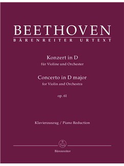 Ludwig Van Beethoven: Violin Concerto In D Op.61 - Piano Reduction (Barenreiter Urtext) Books | Violin, Piano Accompaniment