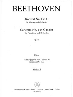 Ludwig Van Beethoven: Concerto No.1 In C Major Op.15 For Piano (Violin II) Books | Orchestra