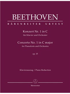 Ludwig Van Beethoven: Concerto No.1 In C Major Op.15 For Piano - Piano Reduction Books | Two Pianos