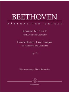 Ludwig Van Beethoven: Concerto No.1 In C Major Op.15 For Piano - Full Score Books | Orchestra, Piano