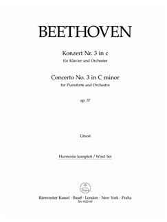 Ludwig Van Beethoven: Concerto No.3 In C Minor Op.37 (Wind Set Parts) Books | Wind Ensemble