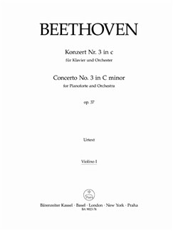 Ludwig Van Beethoven: Concerto No.3 In C Minor Op.37 (Violin I Part) Books | Violin