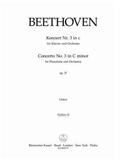 Ludwig Van Beethoven: Concerto No.3 In C Minor Op.37 (Violin II Part) Books | Violin