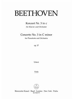 Ludwig Van Beethoven: Concerto No.3 In C Minor Op.37 (Viola Part) Books   Viola