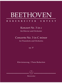 Ludwig Van Beethoven: Concerto No.3 In C Minor Op.37 For Piano - 2 Piano Reduction Books | Orchestra, Piano