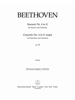 Ludwig Van Beethoven: Piano Concerto No.4 In G Op.58 (Wind Set) Books | Orchestra