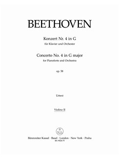 Ludwig Van Beethoven: Piano Concerto No.4 In G Op.58 (Violin II) Books | Orchestra