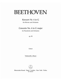 Ludwig Van Beethoven: Piano Concerto No.4 In G Op.58 (Cello/Bass) Books | Orchestra