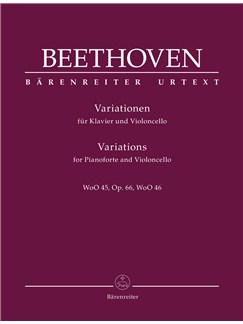 Ludwig Van Beethoven: Variations For Pianoforte And Violoncello Op.66, WoO 45, WoO 46 Books | Piano, Cello