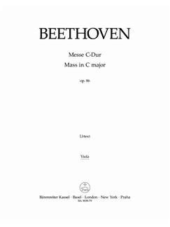Ludwig Van Beethoven: Mass In C Op.86 (Viola) Books | Choral, Orchestra
