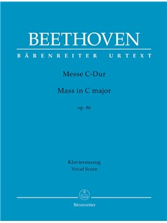 Ludwig Van Beethoven: Mass In C Op.86 (Vocal Score) Bog | Orkester