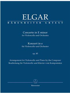 Edward Elgar: Concerto In E Minor For Cello And Orchestra Op.85 - Piano Reduction (Barenreiter Urtext) Books | Cello, Piano Accompaniment