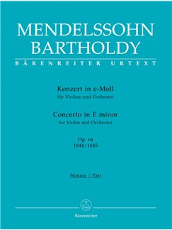F. Mendelssohn: Violin Concerto In E Minor Op.64 - Early And Later Version (Violin And Piano) Books | Violin, Piano Accompaniment