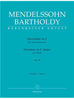 F. Mendelssohn: Overture In C Major For Wind Instruments Op.24 (Full Score) Books | Orchestra