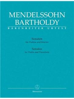 Felix Mendelssohn Bartholdy: Sonaten Books | Piano, Violin