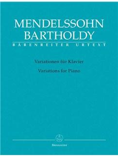 Felix Mendelssohn Bartholdy: Variationen Für Klavier Books | Piano