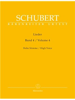 Franz Schubert: Lieder Band 4 Books | High Voice, Piano