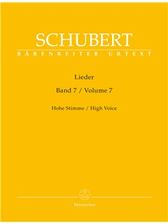 Franz Schubert: Lieder Volume 7 - High Voice D182 - D 260 Books | High Voice, Piano Accompaniment