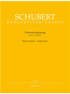 Franz Schubert: Schwanengesang D.957 / D.965a - High Voice (Urtext) Books | High Voice, Piano Accompaniment