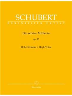 Franz Schubert: Die Schöne Müllerin Op.25 - High Voice Books | High Voice, Piano Accompaniment
