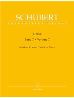 Franz Schubert: Lieder Volume 7 - Medium Voice D182 - D 260 Books | Medium Voice, Piano Accompaniment