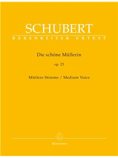 Franz Schubert: Die Schöne Müllerin Op.25 - Medium Voice Books | Medium Voice