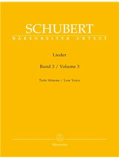 Franz Schubert: Lieder Band 3 Books | Bass Voice, Piano