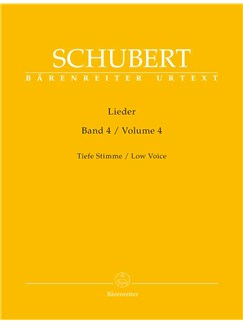 Franz Schubert: Lieder Band 4 Books | Bass Voice, Piano