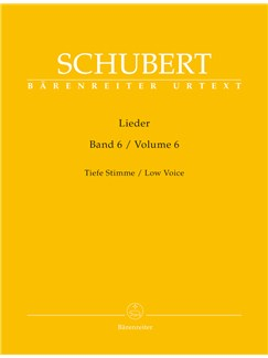 Franz Schubert: Lieder - Volume 6 (Low Voice) Books | Voice, Piano Accompaniment