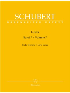 Franz Schubert: Lieder Volume 7 - Low Voice D182 - D 260 Books | Low Voice, Piano Accompaniment