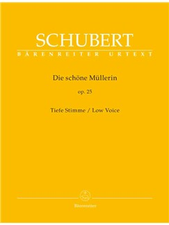 Franz Schubert: Die Schöne Müllerin Op.25 - Low Voice Books   Low Voice, Piano Accompaniment