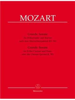 Wolfgang Amadeus Mozart: Grande Sonate Für B-Klarinette Und Klavier Nach Dem Klarinettenquintett KV 581 Books | Bass Clarinet, Piano