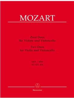 Wolfgang Amadeus Mozart: Zwei Duos Für Violine Und Violoncello Books   Violin, Cello