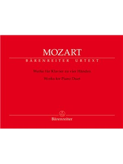Wolfgang Amadeus Mozart: Works For Piano Duet Libro | Piano Dúos