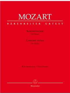 W. A. Mozart: Concert Arias For Tenor Books | Tenor, Piano Accompaniment